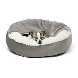 "Best Friends by Sheri Cozy Cuddler Dog Bed  Gray 24"" x 24"" x"