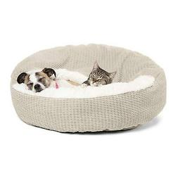 "Best Friends by Sheri Cozy Cuddler Dog Bed Wheat 26"" x 26"" x"