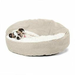 "Best Friends by Sheri Cozy Cuddler Pet Bed Oyster 26""x26""x8"""