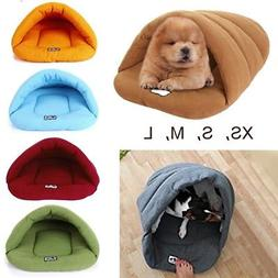 Cozy Pet Cat Dog House Kennel Puppy Cave Sleeping Bag Bed So