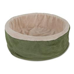 Deluxe Cuddle Cup with Sheepskin Dog Bed, Color Will Vary
