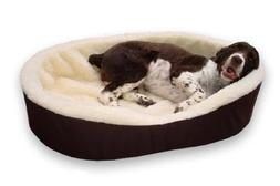 Dog Bed King Cuddler American Made Medium Brown/Imitation La