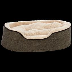 "Harmony Cuddler Orthopedic Dog Bed in Tweed, 28"" L x 20"" W"