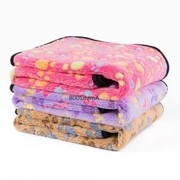 Cute Soft Warm Plush Fleece Throw Pet Dog Sleeping Blanket S