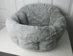 Best Friends by Sheri Deep Dish Cuddler in Lux, Gray, One Si