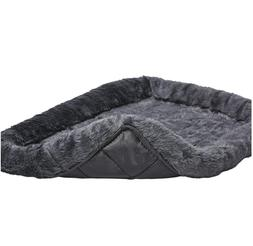 24L-Inch Gray Dog Bed or Cat Bed w/Comfortable Bolster   Ide