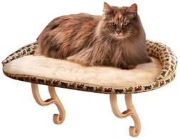 K&H Pet Products Kitty Sill Deluxe with Bolster Tan Kitty Pr