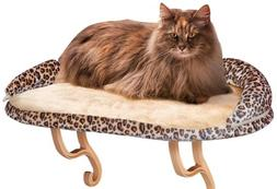 K&H Pet Products Deluxe Kitty Sill with Bolster Leopard 14""