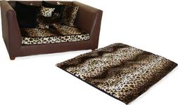 Deluxe Orthopedic Memory Foam Dog Bed Set, Large, Leopard