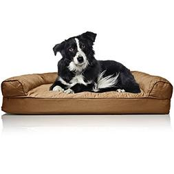 NEW Furhaven Deluxe Quilted Sofa Orthopedic Pet Bed - Warm B