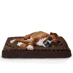FurHaven Deluxe Ultra Plush Pet Orthopedic Dog Bed - Large
