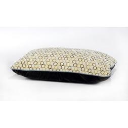 Diamond Microvelvet Designer Rectangle Pet Bed - Milano
