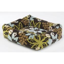 Diamond Microvelvet Dutchie Pet Bed - St. Tropez