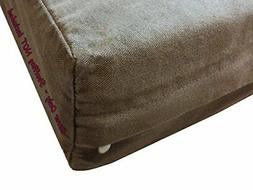 Dogbed4less DIY Pet Bed Pillow Brown Denim Duvet Cover and W