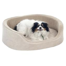 Dog Bed 30 x 26 Inches Nesting Cuddle Animal Bed Microsuede