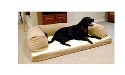 Dog Bed and Couch Extra-large Tan Baxter Orthopedic-foam Ove