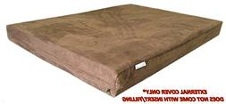 Dog Bed Cover: 40''x35''x4'' Deluxe Top Quality Chocolate Br