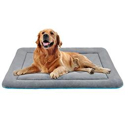 JoicyCo Dog Bed Large Crate Mat 42 in Anti-Slip Washable Sof