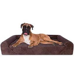 Dog Bed Deluxe Orthopedic Memory Foam Sofa Lounge X-Large Br