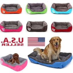 Dog Bed Pet Kennel House Warm Cushion Pad Blanket Puppy Cat