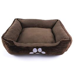 Petper Dog Bed Pet Product, Dog Self- Warming Bed with Paw P