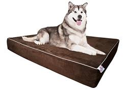 Large Dog Bed Pillow Extra Big Pet Orthopedic Dual Layer Mem