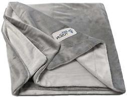 "PetFusion Premium X-Large Dog Blanket 60x48"" Reversible Gray"