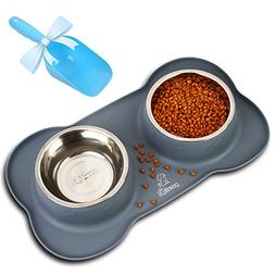 Pecute Dog Bowls Stainless Steel Dog Bowl with No Spill Non-