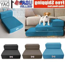 Dog Breathable Mesh Foldable Pet Stairs Detachable Pet Bed S