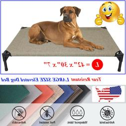 VEEHOO Elevated Dog Bed Pet Cot Large Pet Lounger Sleeper Ha