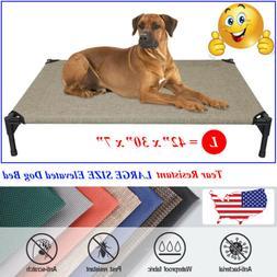 VEEHOO Elevated Dog Bed Pet Cot Large Pet Lounger Sleeper Ha