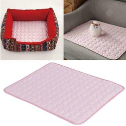 Dog Cooling Mat Pet Cat Non-Toxic Cool Gel Pad Summer Bed Co