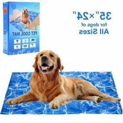 Dog Cooling Mat - Pet Gel Self-Cooling Pad for Summer Sleepi