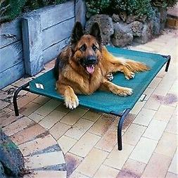 Elevated Dog Cot,Large, Indoor/Outdoor,  w/Pet Feeder, Adjus