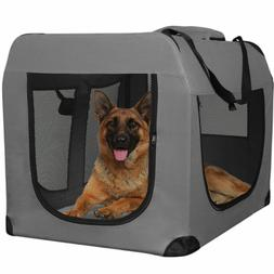 Dog Crate Soft Sided Pet Carrier Foldable Training Kennel Po