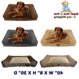 "Dog Foam Bed With Non-Skid Bottom 40"" W X 8"" H X 30"" D Mediu"