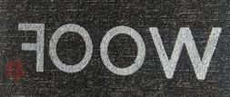 Dog Food Mat Woof Welcome Rug Carpet Tile Entry Door Bowl Pu