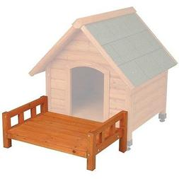 Dog House Wood Outside Treat Den Town Crate Kennel Yard Pet