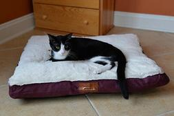 Canvas Pet Mat in Burgundy and Ivory - Size: Large