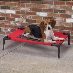 Vedem Small Dog Pet Elevated Steel Frame Mesh Cot Bed