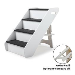 Dog Pet Stairs 4 Steps Folding Climb Ladder Pet Puppy Stairs
