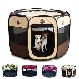Dog Pet Tent Portable Cage Folding Kennel Puppy Playpen Hous