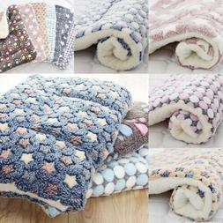 Dog Puppy Warm Plush Blankets Mat Cushion Winter Warm Sleepi