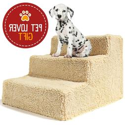 Dog Stairs For High Bed Pet 3 Steps Ramp Ladder Small Doggie