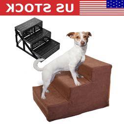 Dog Steps For High Bed 3 Steps Pet Stairs Small Dogs Cats Ra