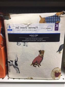dogs king flannel sheet set