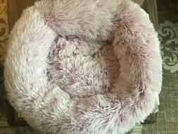 Friends Forever Premium Donut Bolster Orthopedic Dog Bed for