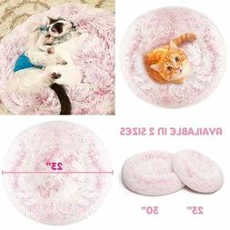 Donut Cat Bed Faux Fur Dog Beds For MEDIUM SMALL Dogs Self W