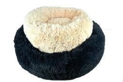 Donut Dog Bed Cozy Poof Style Giant Great for Cats Dogs Pet