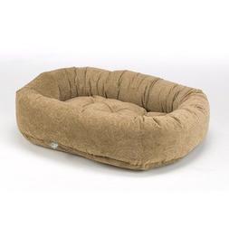Donut Dog Bed in Paisley Cedar